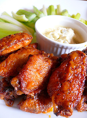 try our buffalo wings at jamesons